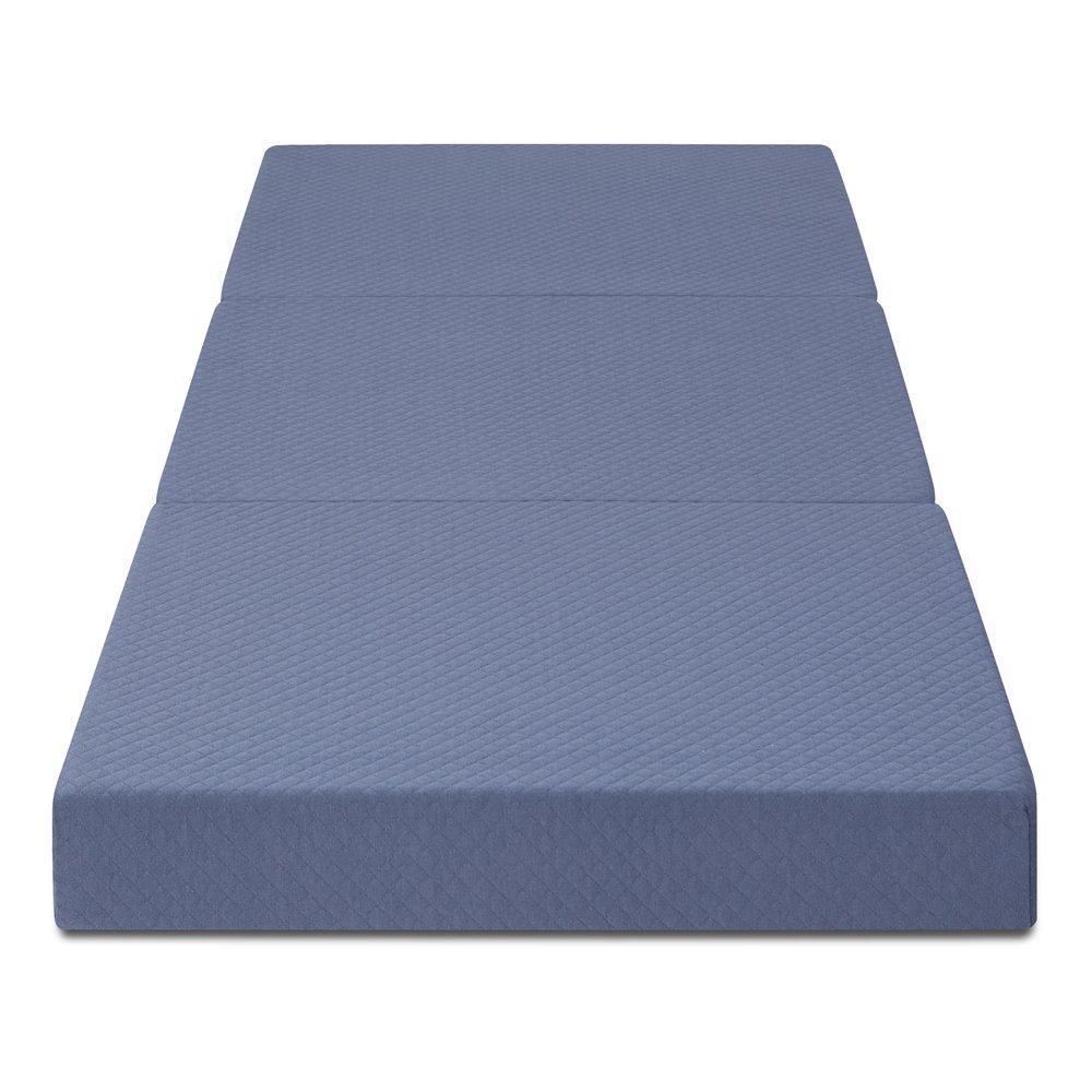 Olee Sleep Tri-Folding Memory Foam Mattress (並行輸入品) (Grey) B075S5JTGWGrey