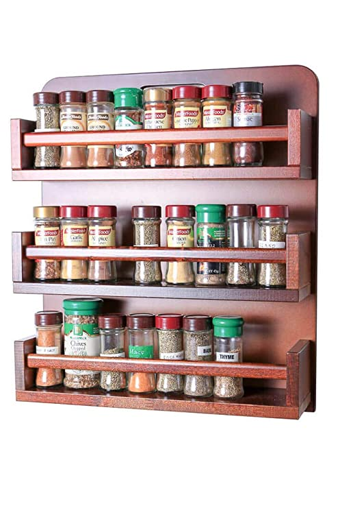 Portaspezie Legno Fai Da Te.Portaspezie Legno Open Top 3 Ripiani In Legno Bar Store 54