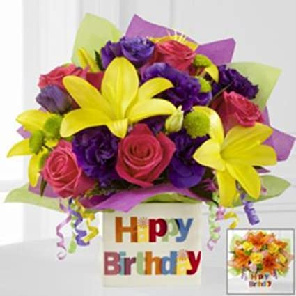Amazon FTD Vase LN1270 Happy Birthday Container No Flowers Greeting Cards Office Products