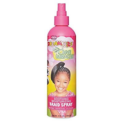African Pride Dream Kids Olive Miracle Soothing Moisturizing Braid Spray, 12 Ounce