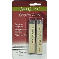 Art Graf 500102 Water-Soluble Graphite, Grey 2 Sticks Per Card