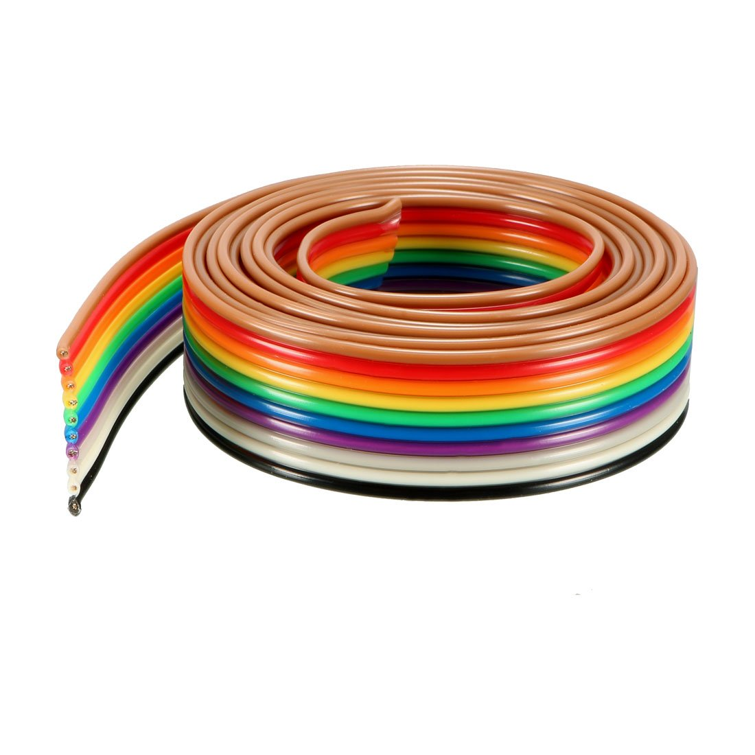 Uxcell Ribbon Cable 10p Jumper Wire 127mm Pitch 1m Long Wiring Diagram A18050400ux0318