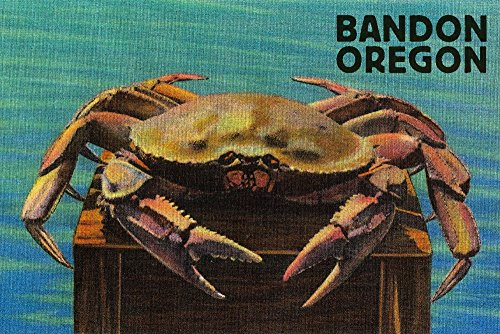 Bandon, Oregon - Dungeness Crab Vintage Postcard (16x24 SIGNED Print Master Giclee Print w/Certificate of Authenticity - Wall Decor Travel ()