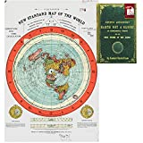 Flat Earth Map - Gleason's New Standard Map Of The World - Large 24' x 36' High Quality Poster - Offer Includes FREE eBook - Zetetic Astronomy by Samuel Rowbotham