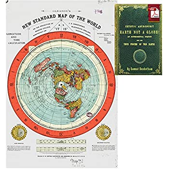 flat earth map gleasons new standard map of the world large 24 x