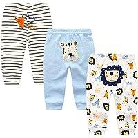TONE Leggings para bebé para niños y niñas 0-3m/3-6m/6-9m/9-12m, paquete de 4 unidades, 100% algodón