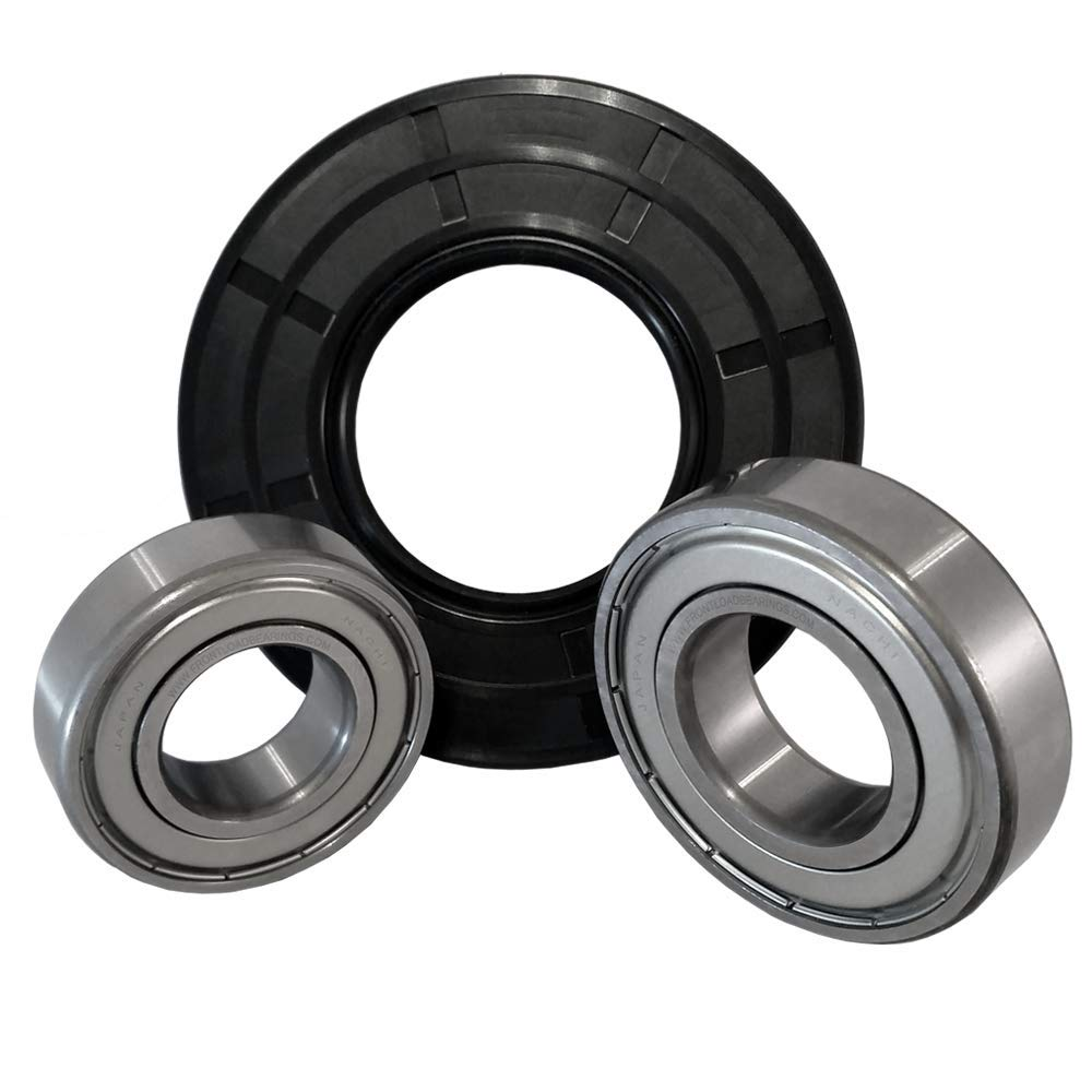 Nachi Front Load Whirlpool Washer Tub Bearing and Seal Kit Fits Tub W10772617 (5 year replacement warranty and full HD''How To'' video included)