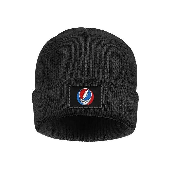 db9e73bb7fed9 Acrylic Knit Hat Music Band Album Art Winter Warm Cuffed Thick Slouchy Cap  Unisex