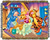 "Disney's Winnie the Pooh, ""Story Time"" Acrylic Tapestry Throw Blanket, 48"" x 60"", Multi Color"