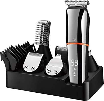 Amazon Com Surker Beard Trimmer For Men Hair Clippers Body Mustache Nose Hair Groomer Cordless Precision Trimmer 6 In 1 Grooming Kit Waterproof Usb Rechargeable Health Personal Care