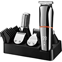 SURKER Beard Trimmer for Men Hair Clippers Body Mustache Nose Hair Groomer Cordless Precision Trimmer 6 in 1 Grooming…