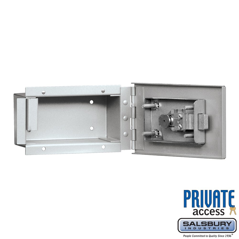 Salsbury Industries 1090AP Key Keeper Includes Commercial Lock Recessed Mounted Private Access, Aluminum by Salsbury Industries