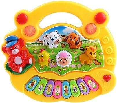 TOYMYTOY Teclado en ingles Piano Bebé Juguete Musical Bebé Educativo Animal de Granja Juguete de Música, Con teclas surtidos e Modelos surtidos ...