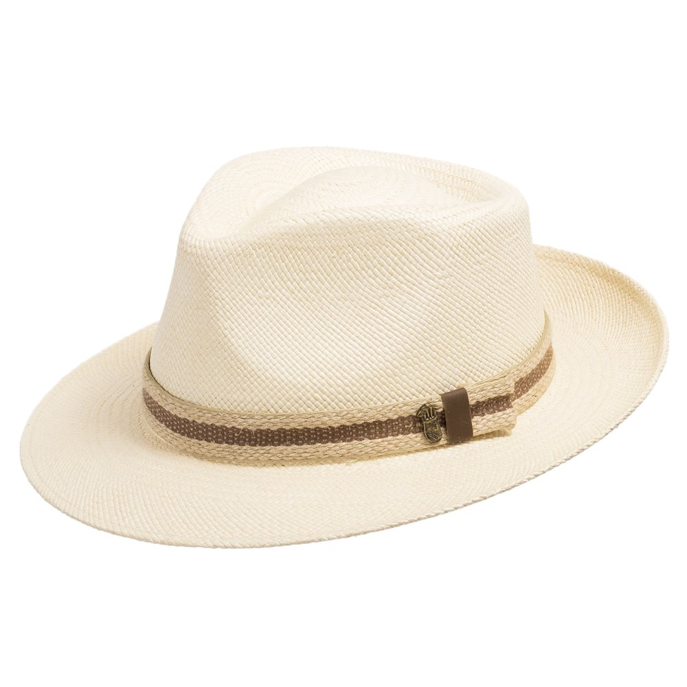 Ultrafino Genuine Havana Classic Panama Straw Dress Hat Comfortable Rope hatband 7 3/8