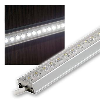 Aluminium LED Lichtleiste weiß 50cm 12V DC DESIGN: Amazon.de ...