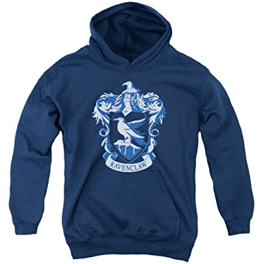 d1795764d8a Amazon.com  Harry Potter Ravenclaw Crest Youth Pull Over Hoodie Navy ...