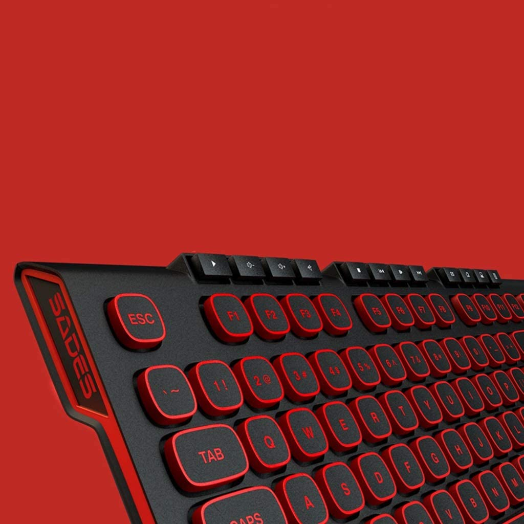 Guanwen Gaming Wireless Keyboard and Mouse Set,Ultra-Thin Mute Ergonomic Chocolate Keycaps Keyboard Color : Black 1000DPI Cordless Mouse for PC Desktop Laptop