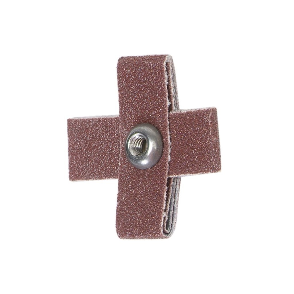 PART NO. 8834184402. CROSS PADS SIZE IS LENGTH X WIDTH X THICKNESS 2-1/4 X 2-1/4 X 1/2 80 GRIT MERIT ALUMINUM OXIDE 8 PLY