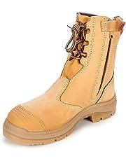 Oliver Work Boots 55385, Steel Toe Safety High Leg, Zip Side.