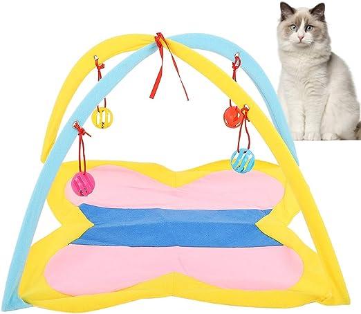Parluna Centro de Actividad portátil para Gatos, Suministros para Mascotas Plegables, Juguetes para Gatos, Tienda de campaña para Gatitos, 19.1 x 17.5 Pulgadas, Gatito para Gatos, Conejo, Ejercicio: Amazon.es: Productos para mascotas