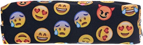 Kukubird Emoji Black Pencil Case// Make Up// Purse// Jewellery /& Coin Pouch Bag