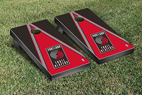 Portland Blazers Trailblazers NBA Basketball Cornhole Game Set Triangle Version by Victory Tailgate