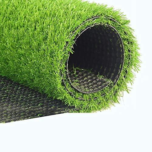 GAPING 人工芝人工芝屋内屋外バルコニーグリーンカーペットマット、3色で利用可能なソフトで快適な高25 mm (Color : Dark green, Size : 2x0.5m)