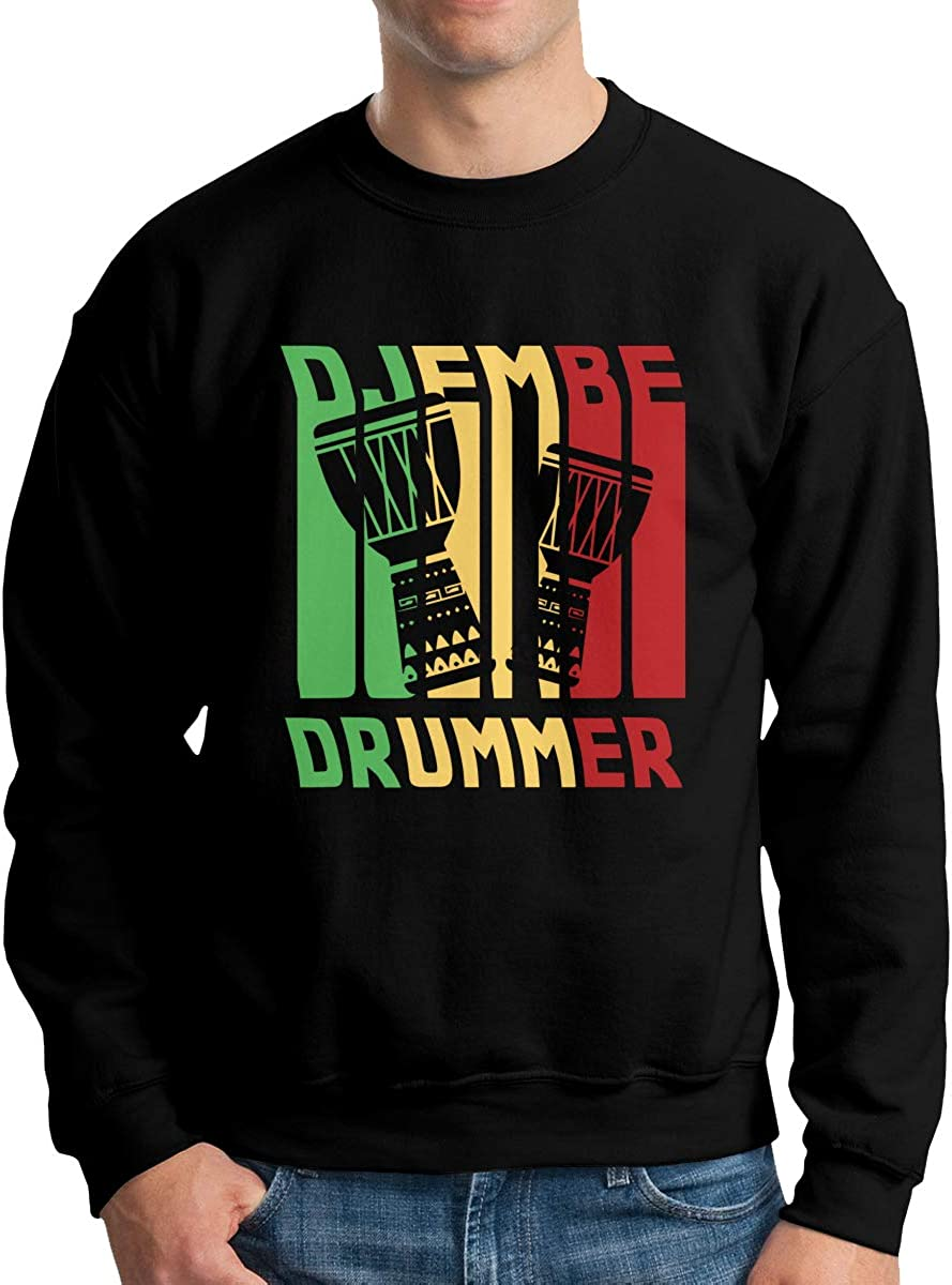 Djembe Drummer Vintage Adult Mens Fashion Long Sleeve Hoody T Shirts