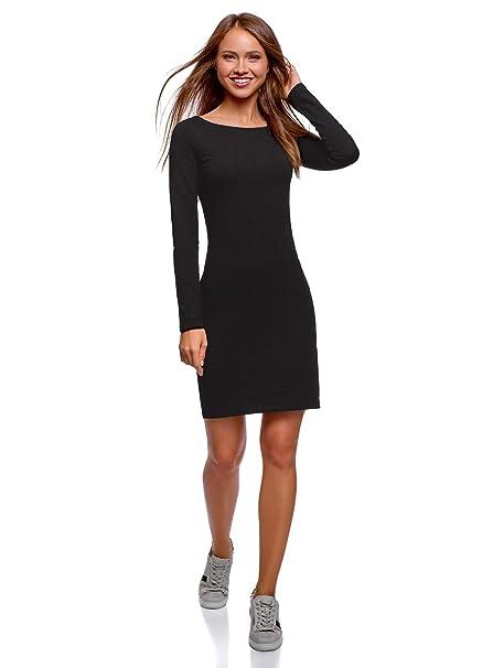 e8284baacd oodji Ultra Mujer Vestido de Punto Ajustado  Amazon.es  Ropa y accesorios