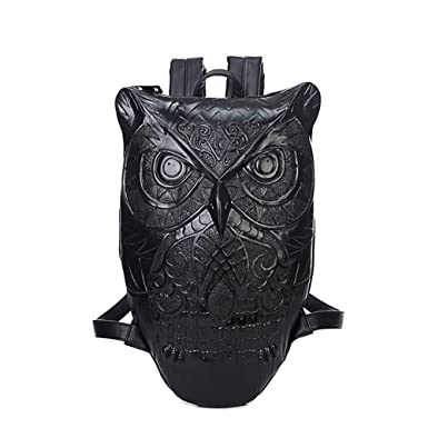 Amazon.com | Aibag Unisex Graphic Embossed Leather 3D Owl Purse ...