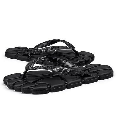 167ba706e311 Hishoes Men s Women s Casual Flip Flops Beach Wear Slipper Summer Non-Slip  Sandals Indoor   Outdoor Massage Flip Flop  Amazon.co.uk  Shoes   Bags