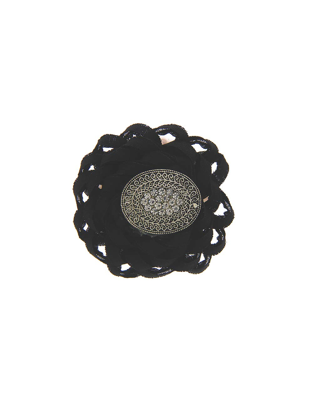 Anuradha Art Black Colour Designer Classy Wonderful Sari/Saree Pin for Women/Girls