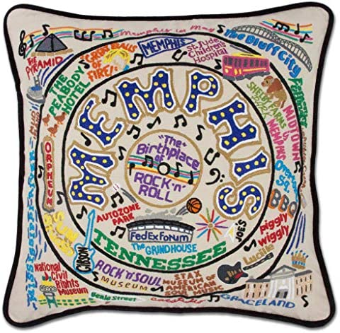 Catstudio Memphis Embroidered Decorative Throw Pillow