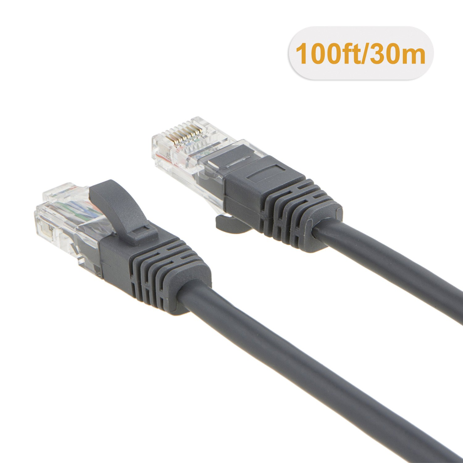 CableCreation 100 Feet CAT 5e Ethernet Patch Cable Blue Color Cat 5e Patch Cord LAN Cable UTP 24AWG+100/% Copper Wire RJ45 Computer Network Cord 30.5m