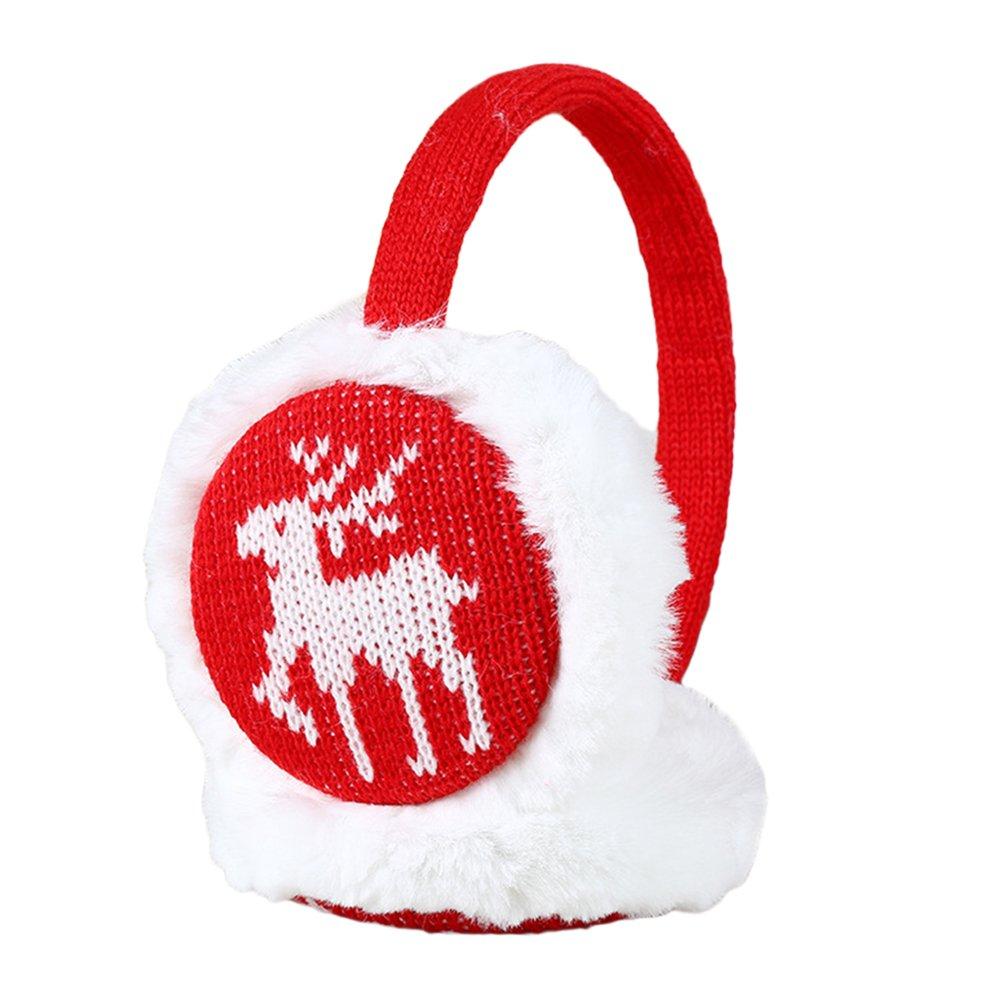 Boys Girls Furry Cute Pattern Earmuffs Warmer Adjustable Earwarmer Winter Warm Outdoor Earmuffs