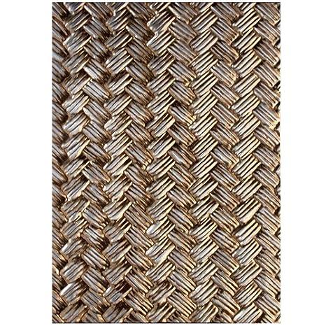 M-Bossabilities Spellbinder Paper Arts Basket Weave Die Template E3D-004