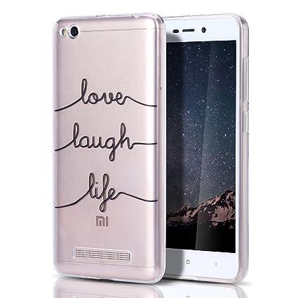MoEvn Xiaomi Redmi 4A Funda, Carcasa Redmi 4A Silicona TPU, Transparent Flexible Goma Gel Parachoques Tapa Ultra Delgado Suave Claro Protectora Caso ...