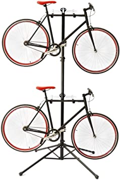 PrimeMatik - Caballete para aparcar Dos Bicicletas colgadas ...