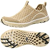 ALEADER Women's Mesh Slip On Water Shoes Gold 8 D(M) US