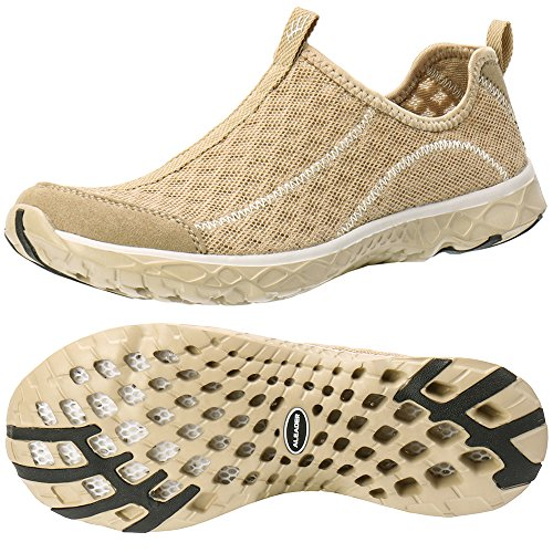 ALEADER Women's Mesh Slip On Water Shoes Gold 8.5 D(M) US ()