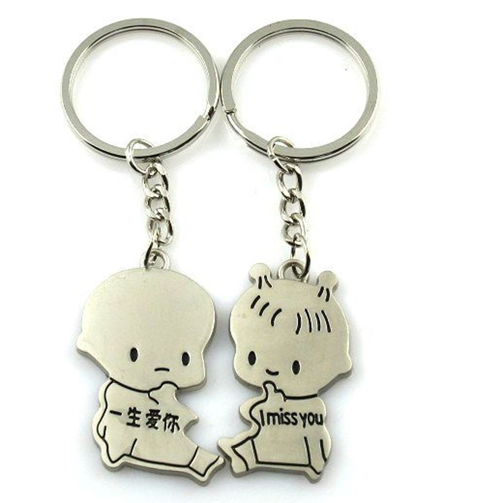 Cute Couple Keychain Love Keychain Key Ring