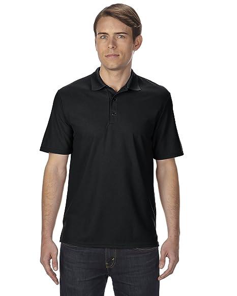 Gildan Men's Performance Double Needle Pique Polo Shirt, XXX-Large, Black