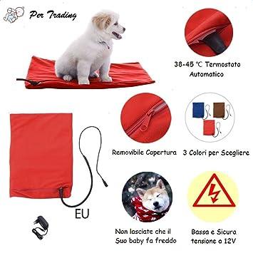 Para la caseta riscaldamenta para perros Temperatura Termostato cojín redondo Calefacción para Animal doméstico automático 40 * 30 cm) rojo: Amazon.es: ...