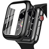 Case + Tempered Glass Screen Protector for Apple Watch Series 6 (44mm) / Apple Watch SE [2020] (44mm) / Series 5 (44mm…