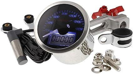 Anjuley Moto Universel LCD Num/érique Thermom/ètre Instrument Temp/érature De leau Compteur De Temp/érature Jauge pour KOSO Yamaha Racing Scooter