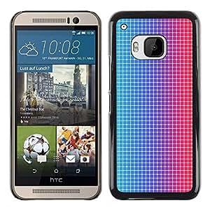 Stuss Case / Funda Carcasa protectora - Disco Dots Illusion Fabric Pattern Blue Red Led - HTC One M9