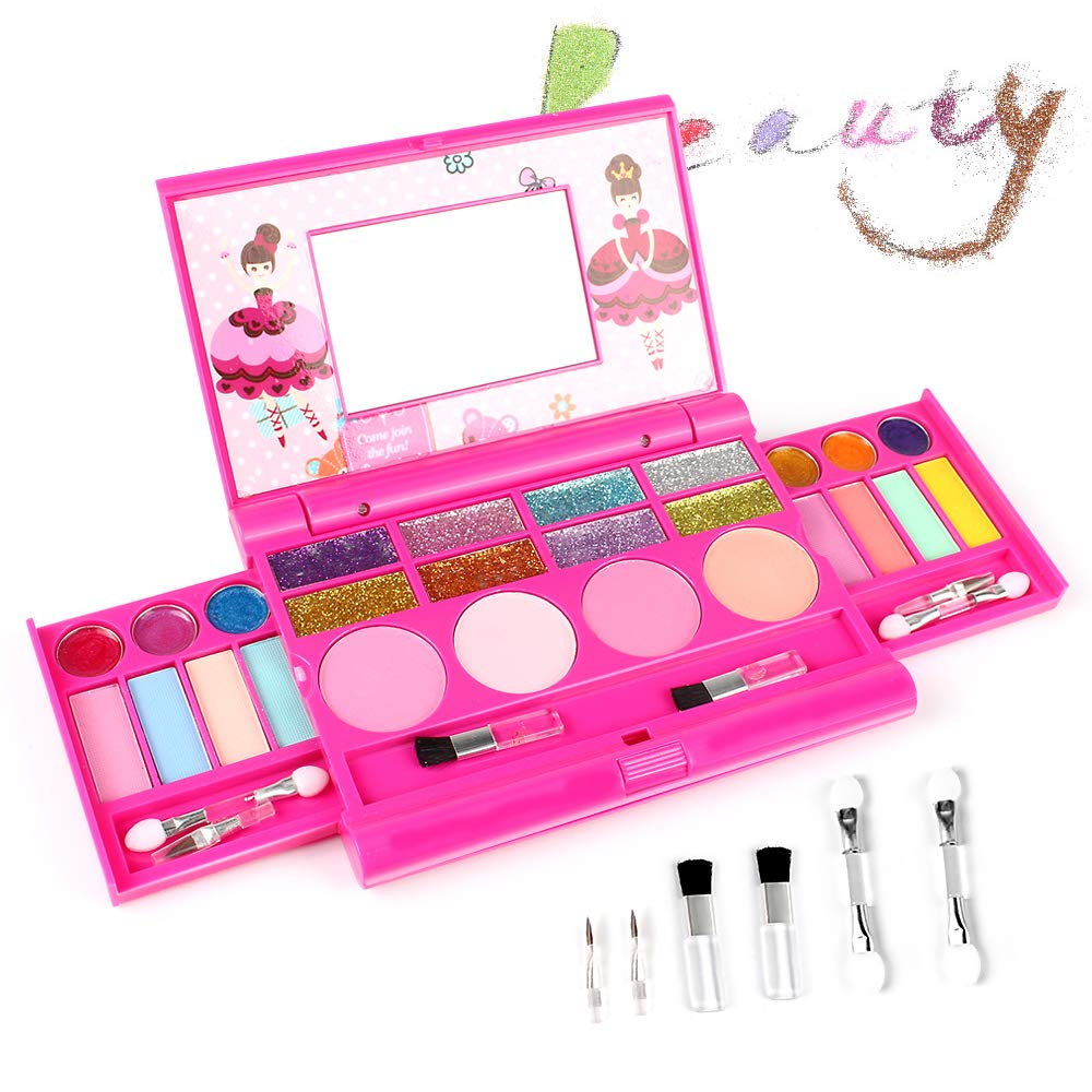 AMOSTING Pretend Makeup for Girls Play Cosmetic Set Make Up Toys Kit Gifts for Kids by AMOSTING