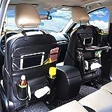 Multi-Pocket Car Back Seat Organizer for Kids Travel Storage Bag With Cup Bottle iPad Phone Tablet Holder,Large capacity,Black