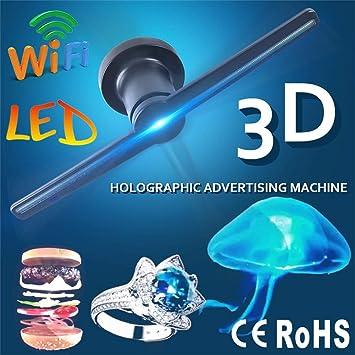 Proyector De Holograma 3D,3D Ventilador LED HD Dinámico Holograma ...