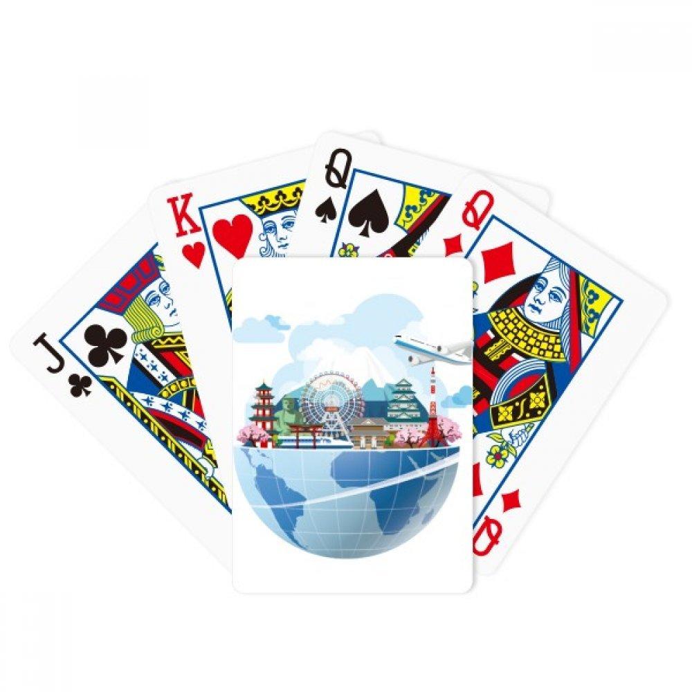 Travel Journey Japan Fuji Sakura Plane Poker Playing Cards Tabletop Game Gift by beatChong